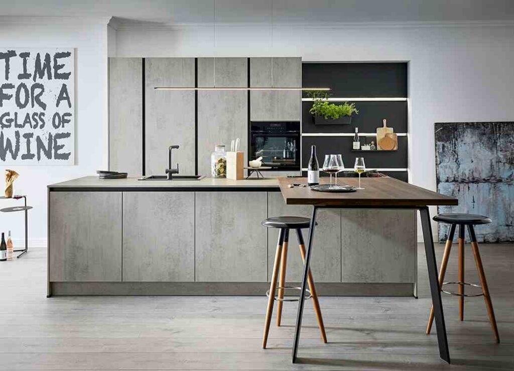 grifflos Küche minimalistisches Design