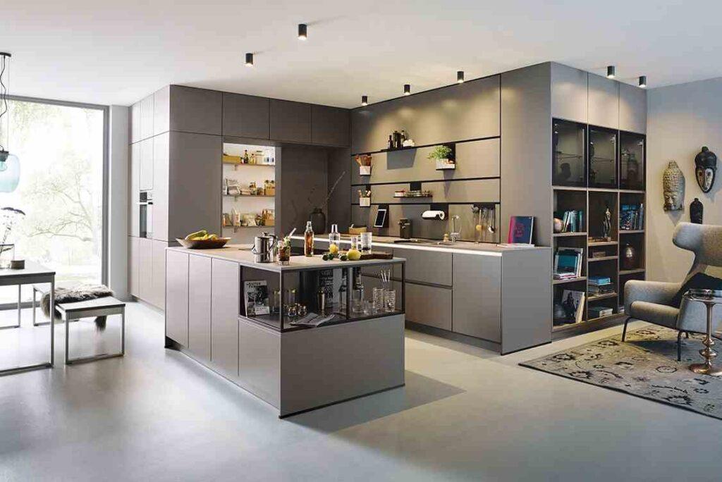 grifflose Küche Raumkonzept