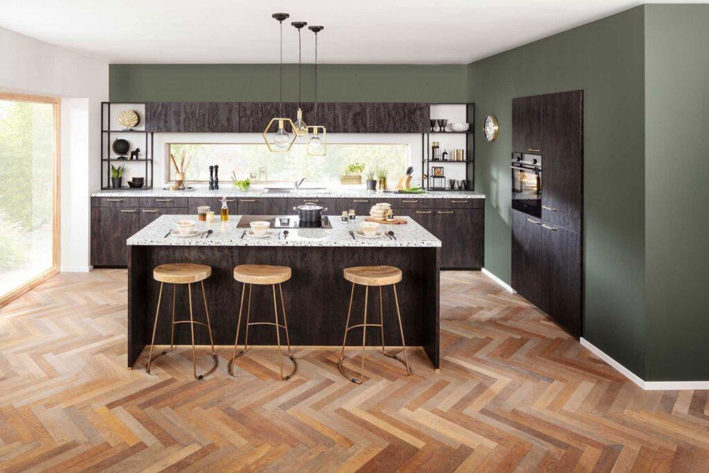 Design Küche Holzoptik