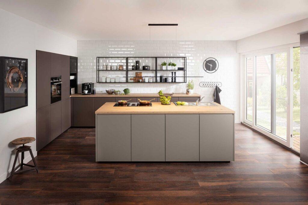 Küche mit Kochblock