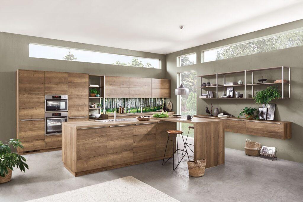 Küche in Holzoptik