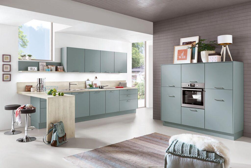 moderne Küche mit grauer front