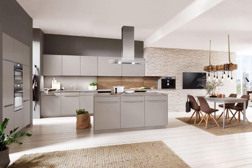 moderne Küche in edlem grau