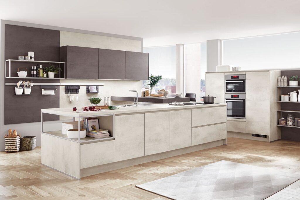 grifflose Küche modern