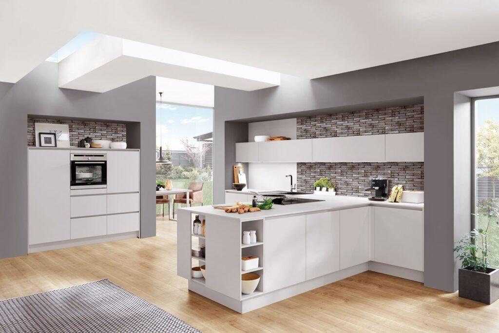 grifflos Küche mit Kochblock